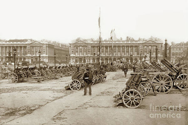 Photograph - Captured German Artillery In Paris, France 1918 by California Views Archives Mr Pat Hathaway Archives