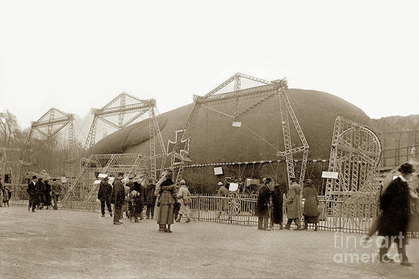 Photograph -  Captured German Observation Balloon, Paris 1918 by California Views Archives Mr Pat Hathaway Archives