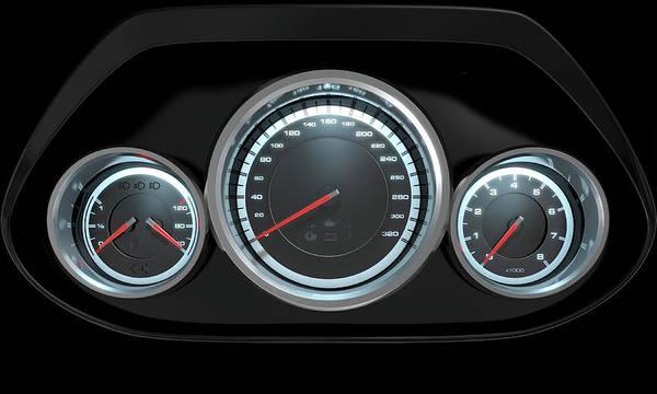 Dashboard Digital Art - Car Dashboard by Allan Swart