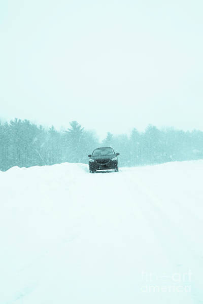 Wall Art - Photograph - Car In A Snow Storm by Edward Fielding