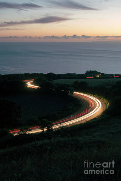 Photograph - Car Lights By The Coast by Clayton Bastiani