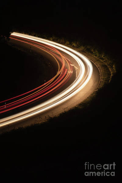 Photograph - Car Lights On Rural Road by Clayton Bastiani