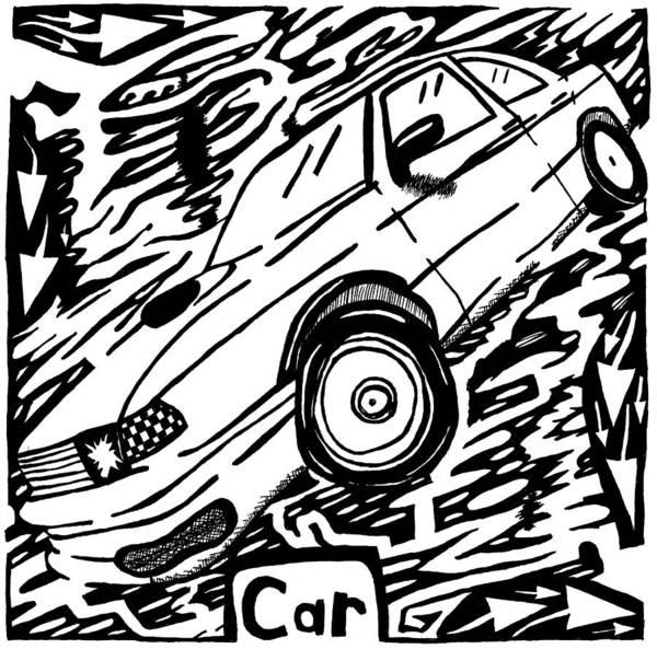 Car Maze  Art Print by Yonatan Frimer Maze Artist