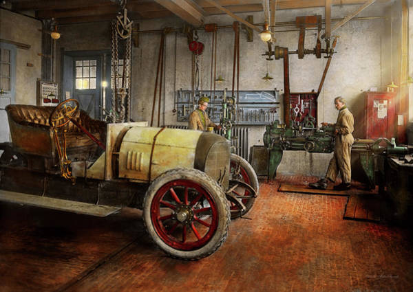 Photograph - Car Mechanic - The Overhaul 1915 by Mike Savad