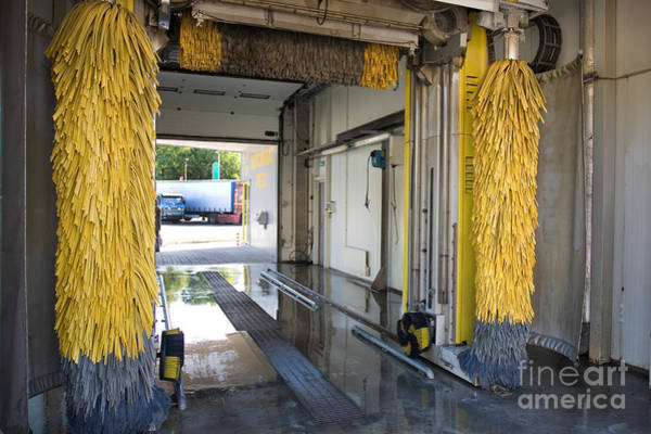 Car Wash Photograph - Car Wash Interior by Jaak Nilson