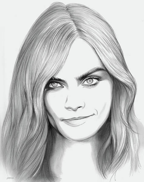 Actress Drawing - Cara by Greg Joens