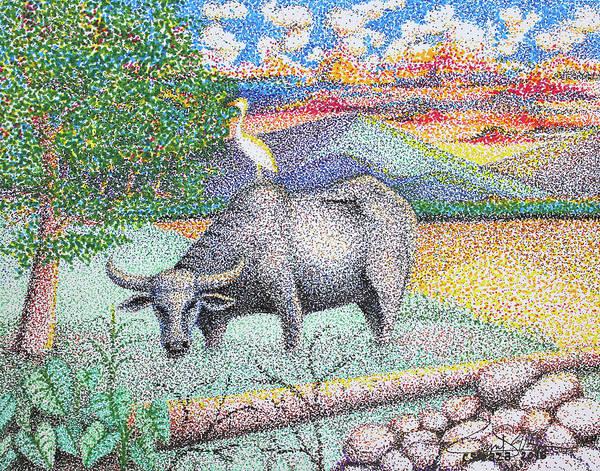 Painting - Carabao by Cyril Maza