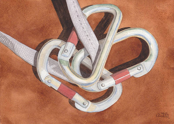 Painting - Carabiners by Ken Powers