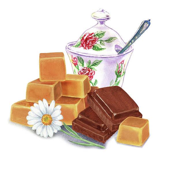 Yummy Painting - Caramel Chocolate by Irina Sztukowski