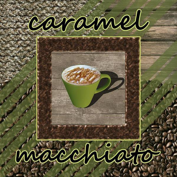 Digital Art - Caramel Macchiato - Coffee Art - Green by Anastasiya Malakhova