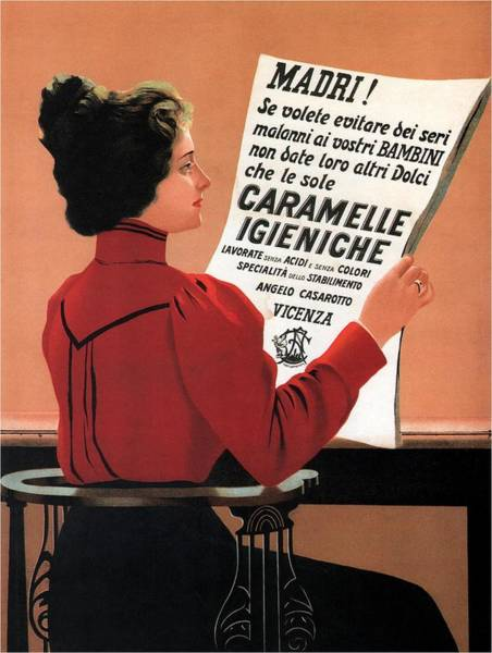 Bauhaus Mixed Media - Caramelle Igieniche - Vicenza, Italy - Vintage Advertising Poster by Studio Grafiikka
