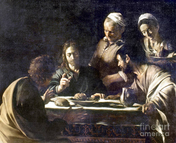 Painting - Caravaggio: Emmaus by Granger