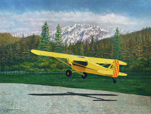 Carbon Cub Riverbank Takeoff Art Print