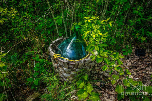 Photograph - Carboy In A Basket by Roger Monahan