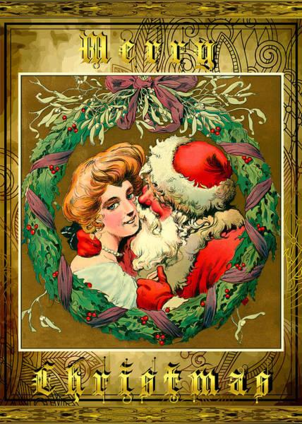 Photograph - Card Christmas Santa by Robert G Kernodle