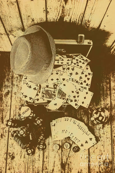 Whiskey Wall Art - Photograph - Card Games And Vintage Bets by Jorgo Photography - Wall Art Gallery