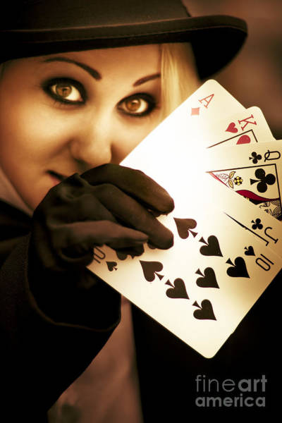 Black Magic Woman Wall Art - Photograph - Card Magician by Jorgo Photography - Wall Art Gallery