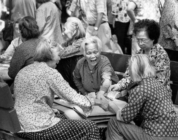 Photograph - Card Players In Chinatown by Dave Beckerman