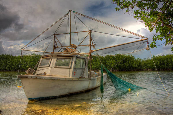 Wall Art - Photograph - Card Sound Fishing Boat by William Wetmore