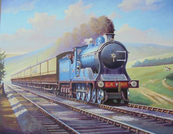 Wall Art - Painting - Cardean On Anglo-scottish Express. by Mike Jeffries