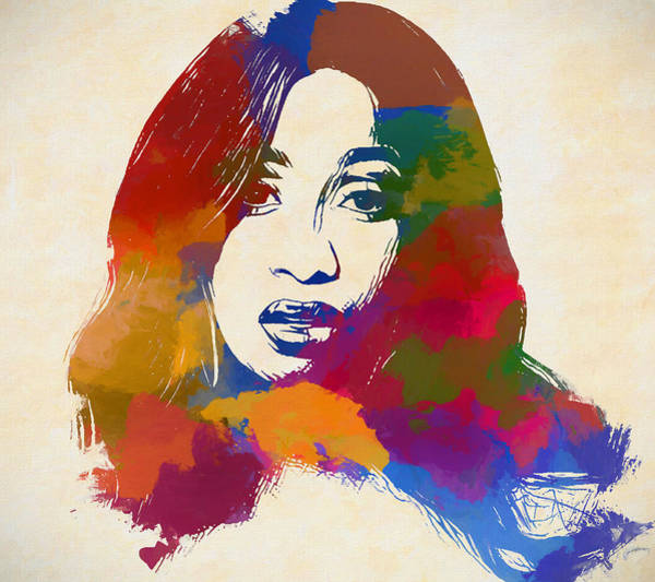 Wall Art - Painting - Cardi B by Dan Sproul