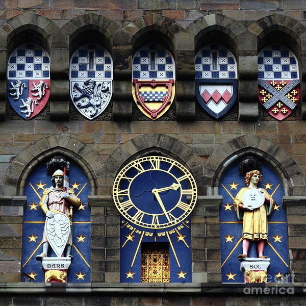 Photograph - Cardiff Castle Clock Tower Detail 1 by James Brunker