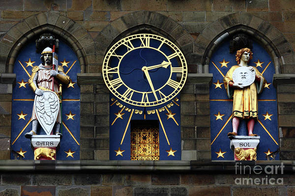 Photograph - Cardiff Castle Clock Tower Detail 2 by James Brunker