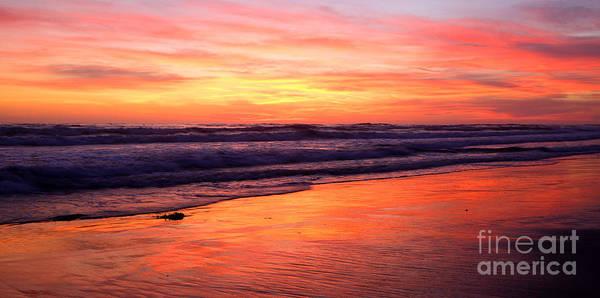 Photograph -  Cardiff Surf  by John F Tsumas
