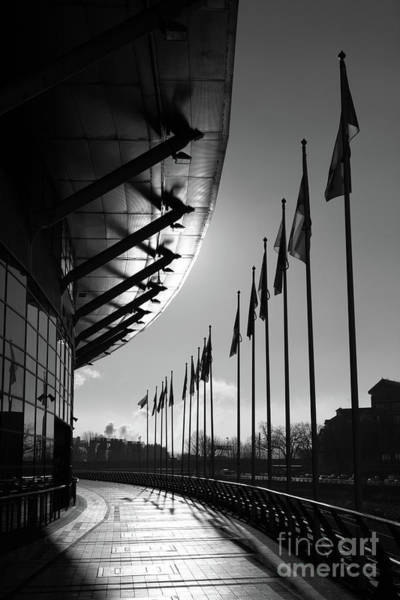 Photograph - Cardiff Millennium Walk And Stadium by James Brunker