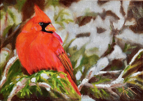Wall Art - Painting - Cardinal by Aixa Renta-DeLuca