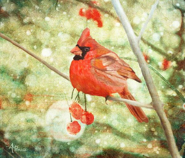 Painting - Cardinal by Angeles M Pomata