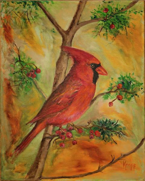 Painting - Cardinal by Kathy Knopp