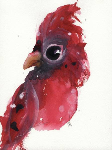 Painting - Cardinal Portrait by Dawn Derman