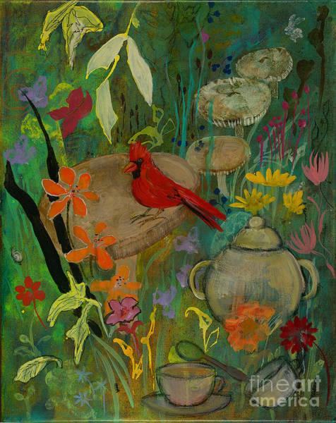 Painting - Cardinal Tea by Robin Maria Pedrero