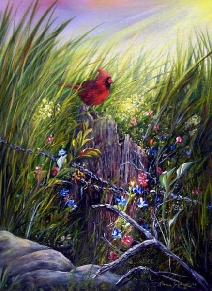 Cardinal Art Print by Theresa Jefferson