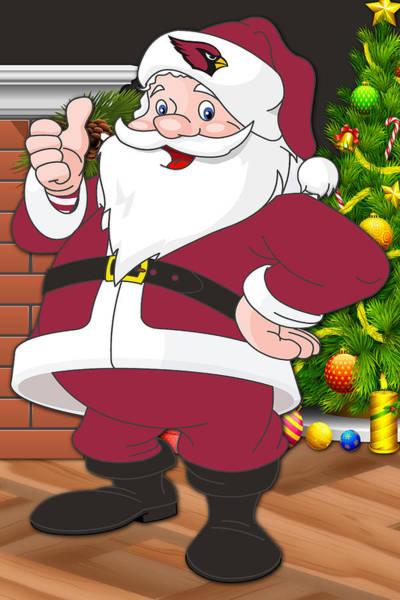 Cardinals Santa Claus Art Print