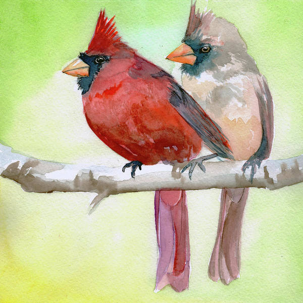 Painting - Cardinals by Sean Parnell
