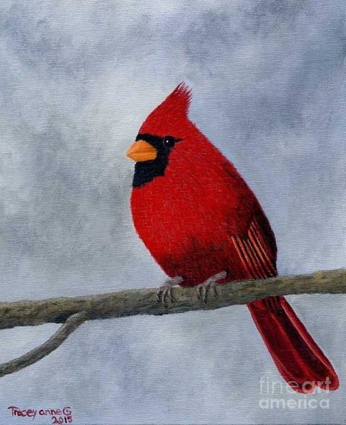 Painting - Cardnial by Tracey Goodwin