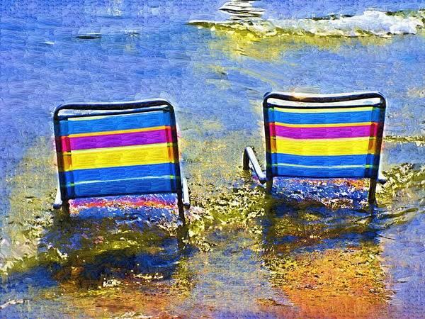 Chair Mixed Media - Care To Join Me by Deborah Selib-Haig DMacq