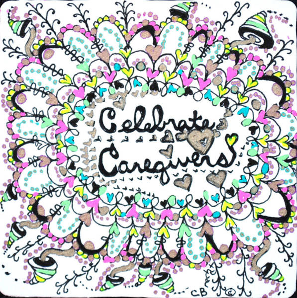 Drawing - Caregiver Celebration by Carole Brecht