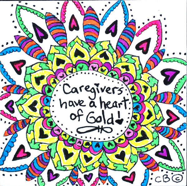 Drawing - Caregiver Flower by Carole Brecht