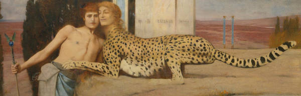 Painting - Caresses by Fernand Khnopff
