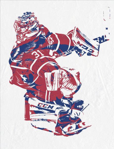 Wall Art - Mixed Media - Carey Price Montreal Canadiens Pixel Art 3 by Joe Hamilton