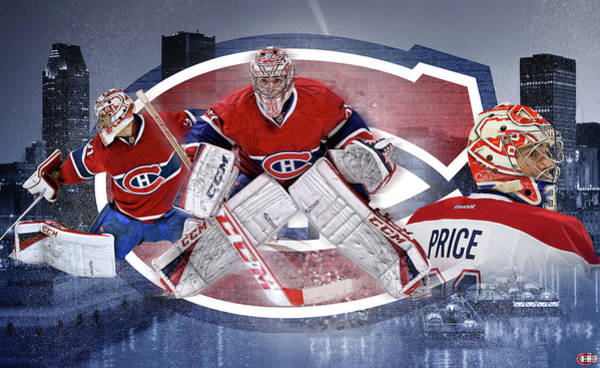 Montreal Canadiens Digital Art - Carey Price Mural by Nicholas Legault