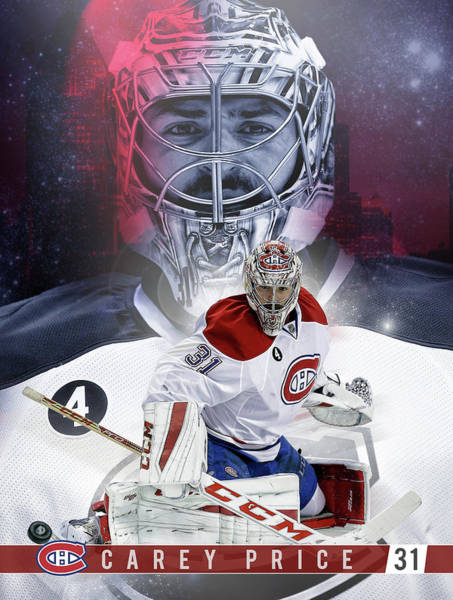 Montreal Canadiens Digital Art - Carey Price by Nicholas Legault