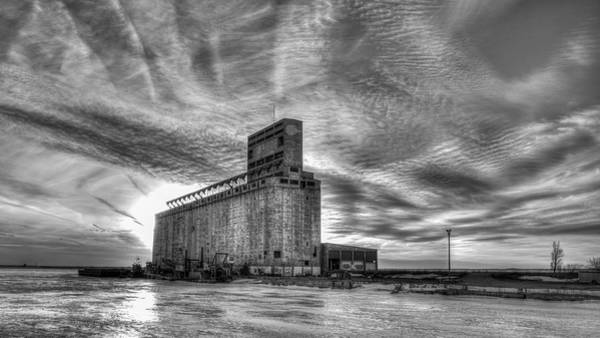 Photograph - Cargill Sunset In B/w by Guy Whiteley