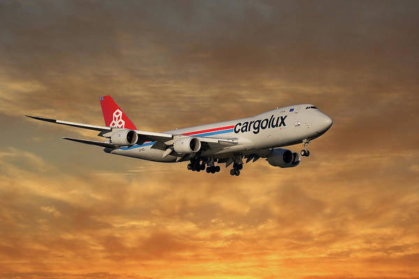 Boeing 747 Wall Art - Photograph - Cargolux Boeing 747-8r7 2 by Smart Aviation