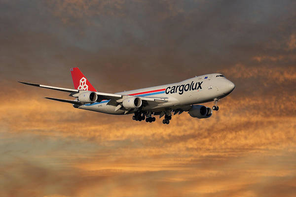 Boeing 747 Wall Art - Photograph - Cargolux Boeing 747-8r7 3 by Smart Aviation