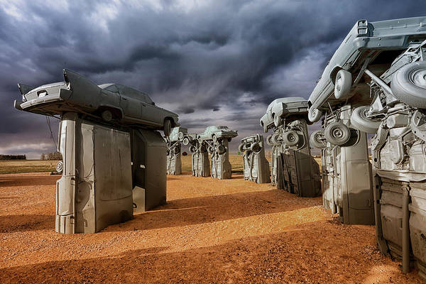 Photograph - Carhenge 2 by CA Johnson