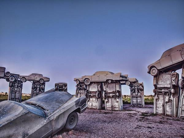 Photograph - Carhenge - In The Circle by HW Kateley